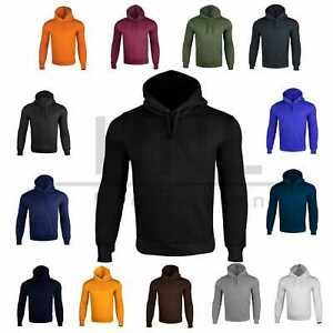 Mens Hoodies Fleece Pullover Sweatshirt Hoody Men Plain Hooded Jumper Top S-6XL