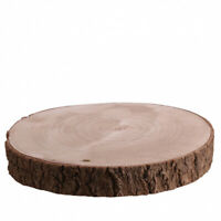 Natural Wood Log Slice Tree Bark Chic Wedding Table Centerpiece Cake Stand