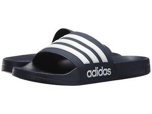 New Man Adidas NEO CF Adilette Slide Sandal AQ1703 Navy-White 100% Brand New