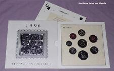1996 ROYAL MINT WEDDING COIN COLLECTION - Inc Euro Football £2 Coin - SCARCE
