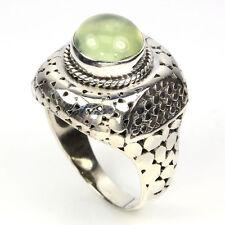 Ring Prehnit Cabochon 925 Silber Gr. 56