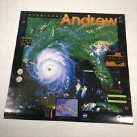 "Hurricane Andrew Poster NASA NOAA 2 Sided Educational Glossy 24""x 24"""