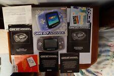 Console Nintendo Game Boy Advance gameboy GBA box Glacier Handheld System PAL