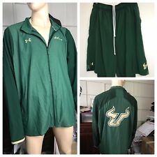 Mens South Florida Bulls USF Under Armour Zip Up Track Jacket And Shorts Sz 4XL