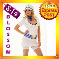 2879 Ladies Captain White Sailor Fancy Dress Costume