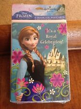 Lot of 16 Disney Frozen Party Invitations & Thank You Postcards Sealed Hallmark