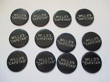 VINTAGE WILLS'S CAPSTAN CIGARETTES ADVERTISING GAMES TOKENS