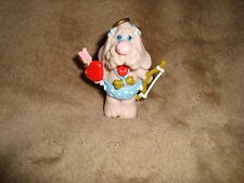 Wrinkles PVC Figure valentines Cupid sand colored Dog 2.25""