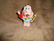 """Wrinkles PVC Figure valentines Cupid sand colored Dog 2.25"""""""