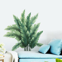 KQ_ Refreshing Tropical Plant Leaf Home Wall Sticker Living Room Decal DIY Decor