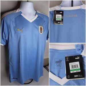 NWT $90 PUMA URUGUAY Soccer Home Replica Jersey La Celeste 755076 01 Size L