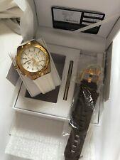 TechnoMarine Watch  Cruise Star White/ Gold Silicone Straps,