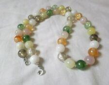 Vintage retro lucite necklace stone effect