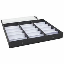 Sunglasses Organizer 18 Slot Display Case 185 X 1425 X 25 In Black