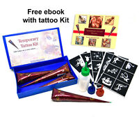 Henna DIY Kit Temporary tattoo cone for body Art natural Henna mehendi cones