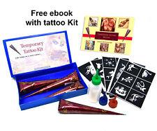 Henna DIY Kit Temporary tattoo cone for body Art natural Henna mehendi cones