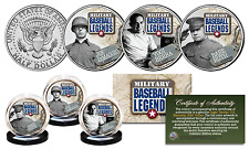MILITARY BASEBALL LEGENDS N.Y. YANKEES Official JFK Half Dollar 3-Coin Set RUTH