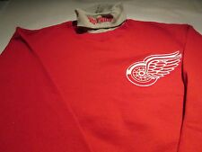 Detroit Red Wings Turtle Neck Sweatshirt Medium  Majestic NHL Hockey 50/50