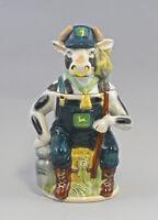 9959313 Porzellan Bierkrug Sammlerkrug Figurenkrug Kuh Rind als Bauer H30cm