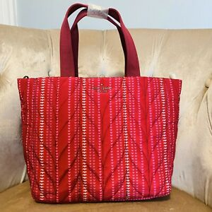 Kate Spade Ellie Heart Small Tote Handbag Crossbody Bag Red New
