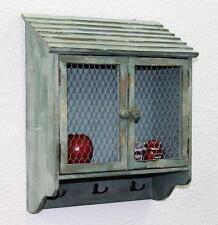 ARMOIRE MURALE 48 cm loft 12076 étagère vintage shabby BARRE avec crochets