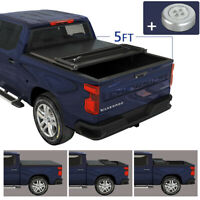Soft Tri Fold Tonneau Cover 5ft Truck Bed For 2020 Jeep Gladiator JT