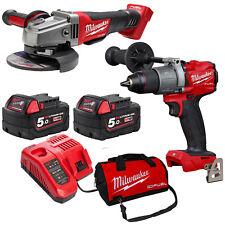 Milwaukee 18V Fuel M18 Brushless GEN 3 Hammer Drill Angle Grinder Kit - AU STOCK