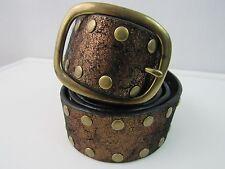 Via Spiga VS8275 Metallic Copper Tone Leather Studded Belt Size Large