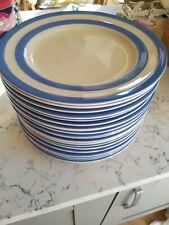 RARE TG Green Cornishware Plate 30cm/Large/Serving/Cake Blue Stripe 2nd Quality