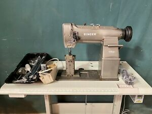Singer 238B28B Twin Needle Post Bed Walking Foot Compound Feed Industrial Sewing