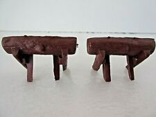Vintage Doll Furniture Camping Log Sawhorse 1:24 Scale Set of 2 Nos