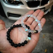 Couples Distance Bracelets Crown Aura Quartz Stone Bead  Women Mens Bracelet