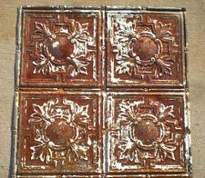 """24""""x24"""" Antique Victorian Ceiling Tin w 4 Tiles Fleur De Li Gorgeous Shabby Chic"""