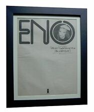 Eno+Taking Tiger Mountain+Rare Original 1974 Poster Ad+Framed+Fast Global Ship