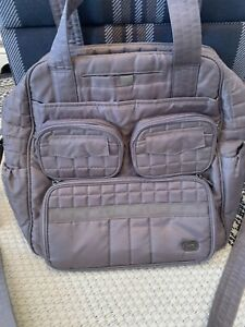 LUG Puddle Jumper Bag Quilted GRAY Travel TONS OF POCKETS