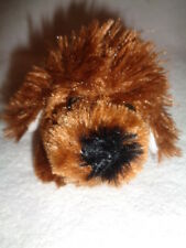 "Dog Brown 4"" Plush Stuffed Puppy Pull tail to Vibrate Shake Proud Toy Fty Zhnhai"
