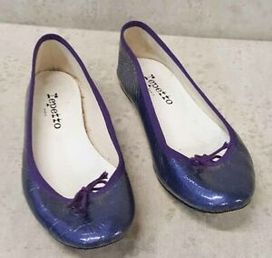 Repetto ballet flats Patent leather purple crinkle eur 37 us 6.5