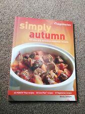 Weight watchers Simply Autumn cookbook