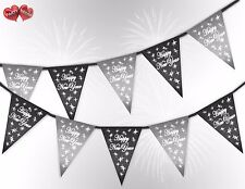 Happy New Year 2019 Stars Grey & Silver mix Bunting Banner by PARTY DECOR