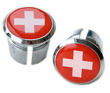 Pavillon SUISSE suisse de vélos guidon chrome plastique bar plugs, casquettes