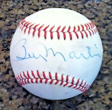 BILLY MARTIN, New York Yankees, single signed baseball
