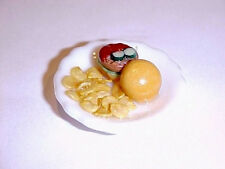 Dollhouse Miniature Food Cheeseburger Deluxe Platter 1:12 Doll House Miniatures