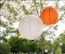 18x 20cm White Orange Paper Lanterns 21st First Birthday Party Christening Decor