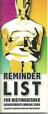 77th ACADEMY AWARDS OSCARS 2004-05 Reminder List Program: Jamie Fox Kate Winslet