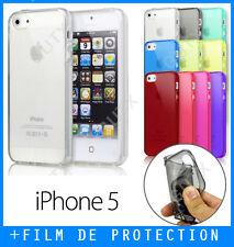 Coque, Housse, Etui - iPhone 5 / 5S / SE - Gel Silicone - 8 Couleurs au choix