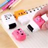 Kawaii Novelty Roller Eraser Cute Cartoon Rubber Stationery Kids Gifts Random