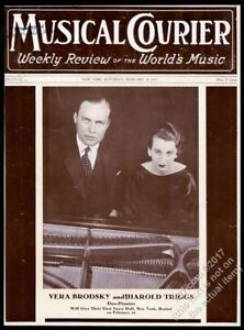 1935 Vera Brodsky Harold Triggs photo Musical Courier framing cover