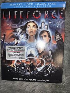 RARE LIFEFORCE BLU RAY/ DVD WITH SLIPCOVER SEALED