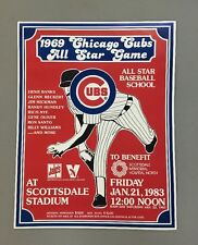 "Vintage Poster 1969 Chicago Cubs All Star Game 1983 Scottsdale 22"" X 17"""