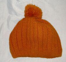 FAVORITE Winter Knit Hat Beanie Cap Japan 42066 Acrylic Dark Burnt Orange PomPom